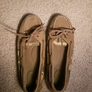 Sperry Top Sider Camouflage Boat Shoes